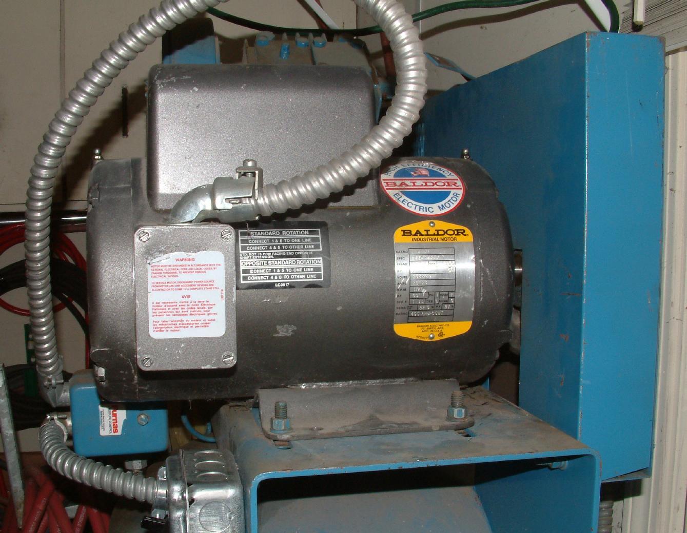 04 repowering with 5hp baldor motor of for Baldor 5 hp compressor motor