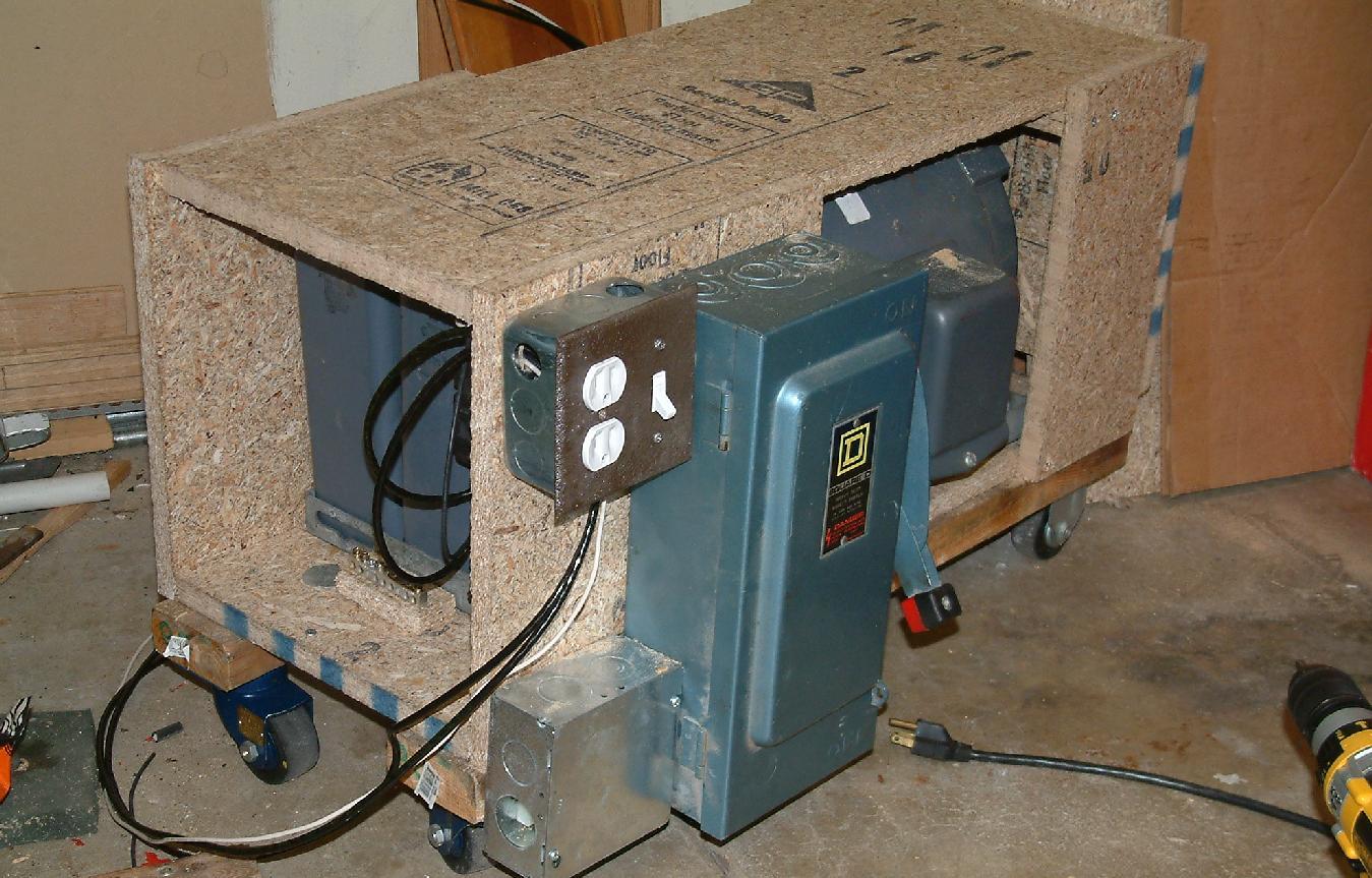 of finishing up electrics for phase converter. Black Bedroom Furniture Sets. Home Design Ideas