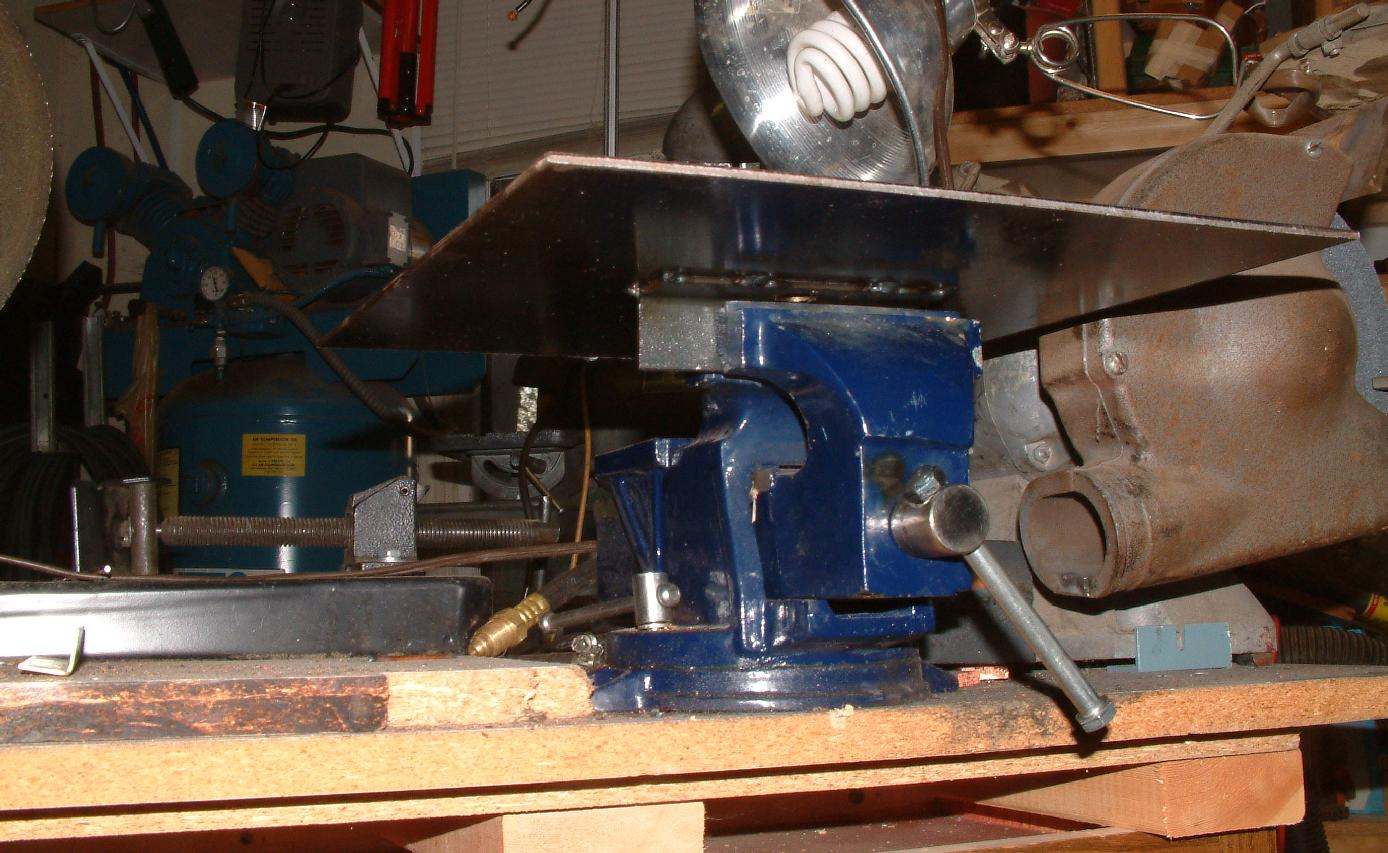 Mounted in vise on my <a href=../../Portable-Homemade-Grinding-Table-Center/>portable grinding center</A>.
